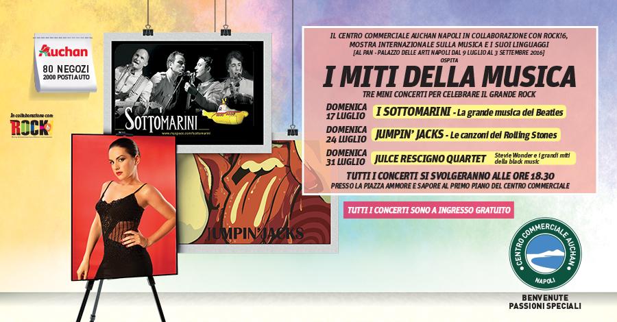 I miti della Musica al Centro Commerciale Auchan Napoli